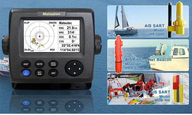 GPS with AIS transponder for small boats and blue water